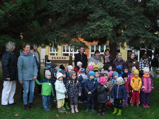 fotografie dětí z třídy medvídků