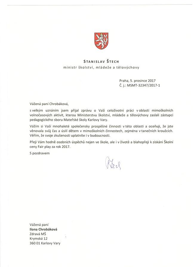 pozvánka na vyhlášení