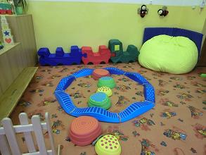 fotografie prostoru na hraní ve třídě